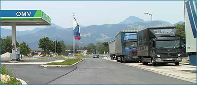 Truckers are very welcome at Rest Area Inntal West